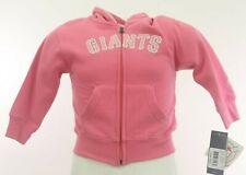 San Francisco Giants MLB Infant Toddler Girls Size Full Zip Hooded Sweatshirt