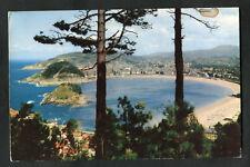 Posted 1964: View of San Sebastian Coast from Igueldo Mountain: Through Trees