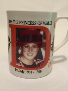 Princess Diana 35th Birthday 1996 Commemorative Mug