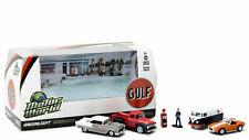 GREENLIGHT 58035 MOTOR WORLD DIORAMA GULF OIL VINTAGE GAS STATION 1/64 6PC SET