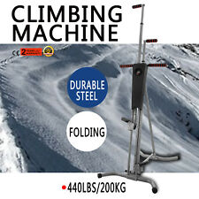LCD Gym Climber Stepper Climbing Machine Training Folding Vertical Gym System