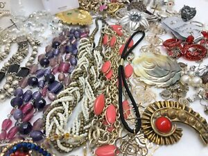 Costume Jewelry Lot: Earrings Necklaces Rings Bracelets; Some Unused (RF945)