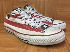 RARE🔥 Converse Chuck Taylor All Star LO USA American Flag Stars Bars 9.5 Men's