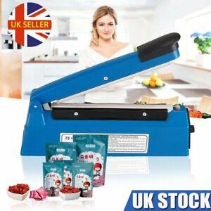 8/12/16inch Hand Impulse Heat Sealer Plastic Bag Film Sealing Machine Metal ABS