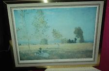 Schöner Kunstdruck Claude Monet Sommer golden gerahmt 35 x 43 cm