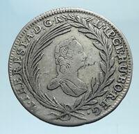 1765 AUSTRIA Queen Maria Theresa Genuine Antique 10 Kreuzer Austrian Coin i78254