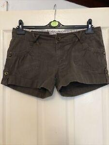 (360)Ladies PRIMARK Brown Shorts Size 12
