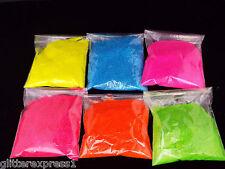 Glitterexpress  FINE 008sq Matt Neon Glitter 6 Pack 100g of each colour
