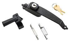 National Hardware  Interior/Exterior  Zinc  Black  Push Button Keyed Latch