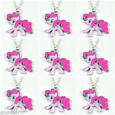 Lot 9 pcs My Little Pony Pinkie Pie Charms Necklaces Girls Birthday Party Gifts
