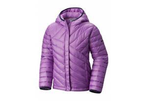 NWT Columbia Kids Powder Lite Puffer Lt Purple Winter Hooded Jacket Youth Sz XL