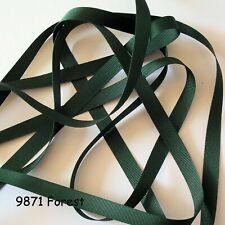 Grosgrain Ribbon, Various widths, Berisfords Ribbon, Forest 9871, R41025