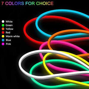 1-5M Flexible Sign Neon LED Strip Lights Silicone Tube Bar 12V Waterproof lamp