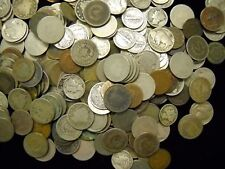 4 Vintage Off Grade Old Coins Indian Cent Buffalo & V Nickel Mercury Dime