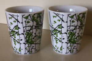Marimekko ~ Kailua Collection ~ MaijaLouekari Design ~ Two Latte Cups ~ Ca. 2004