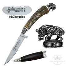 Trachtenmesser mit Hirschhorn-Griff + Zierkappe Keiler Stahl 1.4116