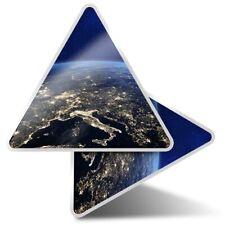 2 x Triangle Stickers 10 cm - Satellite Image Earth Night Europe  #14013