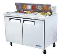 "Turbo Air MST-48 Sandwich Salad Prep Cooler Holds 12 Pans 48"""