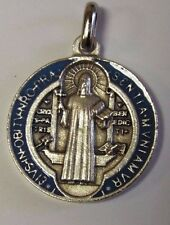 Saint Benedict Enamel 2 tone Medal, From Italy, New