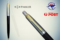 PARKER Jotter Ball Pen with Golden Clip Brand New black barrel Blue fine