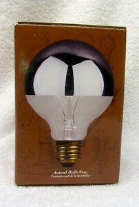 Light Bulb Heritage Series 60W SILVER DIPPED G25 Bulb Std Base Round