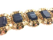 Kate Spade Hall of Mirrors Bracelet NWT Beautiful Navy Emerald-Cut Crystals!