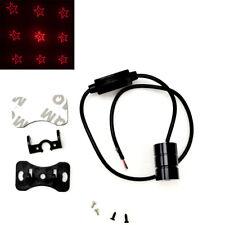 Red LED Rear Fog Light Tail Laser Brake Light Pentagram Warning Lamp JP