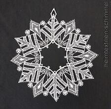 PLAUENER SPITZE ® Fensterbild WINTER Weihnachten SCHNEEKRISTALL Stern weißsilber