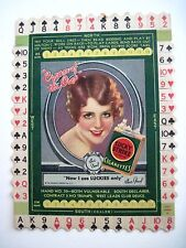 """Vintage Advertising Game Card for """"Lucky Strike Cigarettes"""" w/ """"Sue Carol"""" *"""