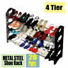 4 tier Shoe Rack for 20 Pair Wall Bench Shelf Closet Organizer Storage Box Stand