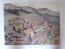 PLANCHE COULEUR ILLUSTRATION APRES DESSIN JACQUES LAMBERT  1923  VILLA CROISSET