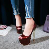 Fashion Women's Nightclub Platform Super High Heels Peep Toe Pumps Sandals Shoes