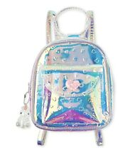 Mini Backpack - Girls Embossed Hearts Holographic NWT + FREE GIFT