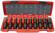 "10Pc 1/2"" Drive Universal Swivel Deep Impact Socket Set (SAE) PRO Radius Set"