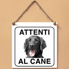 Flat Coated Retriever 4 Attenti al cane Targa cane cartello ceramic tiles