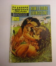 Classics Illustrated #115 How I Found Livingstone, 1st Print, Vg, White Pages