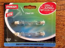 FLOODLIGHT BULB TWIN PACK ENERGY SAVING HALOGEN LINEAR 120W RS7 S5160