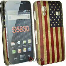 Funda Para Samsung Galaxy Ace S5830 Bandera América Retro Americana + Película