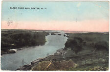 Dexter NY - BLACK RIVER BAY FROM FACTORY - Postcard