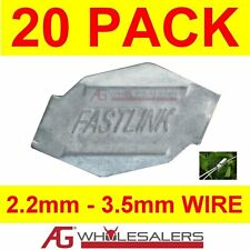 20 X MEDIUM FASTLINK FENCE FENCING WIRE JOINERS - WORKS WITH GRIPPLE® TENSIONING