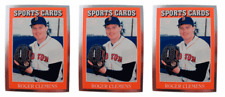 (3) 1991 Sports Cards #3 Roger Clemens Baseball Card Lot Boston Red Sox