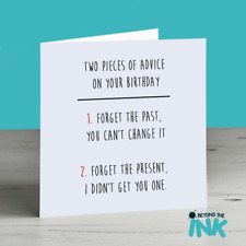 Happy Birthday Advice Friend Funny Personalised Humour Card