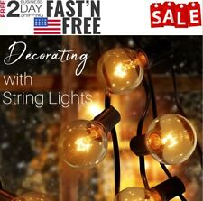Party Decor Globe String Lights for Patios-50 Bulbs, Indoor/Outdoor,Waterproof