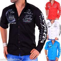 Herren Langarm Hemd Herrenhemd Hemden Slim Fit Club Yachting Polo Men S,M,L,XL