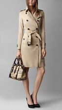Burberry Haymarket Small Gladstone Satchel/Shoulder Bag in Chocolate Trim. $1495