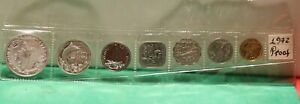 1971 (7) Coin Bahama Proof Set 1 cent- $1