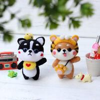 Wool Felt Craft DIY Material Bag Pack Doll dog Needle DIY Material Kit YK