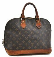 Authentic Louis Vuitton Monogram Alma Hand Bag M51130 LV A5130