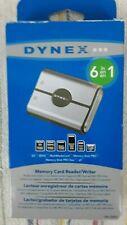 NIB Dynex 6 in 1 Memory Card Reader Writer CR6N1 Reads & Writes 6 Media Cards