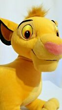 "Disney Hasbro 2002 ""The Lion King"" ""Young Simba"" Plush 18"" Long / Pre-Owned"